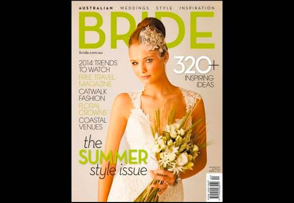 Front cover of Australian Bride magazine