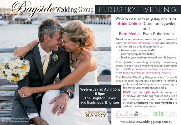 2014 Bayside Wedding Expo promotional flyer