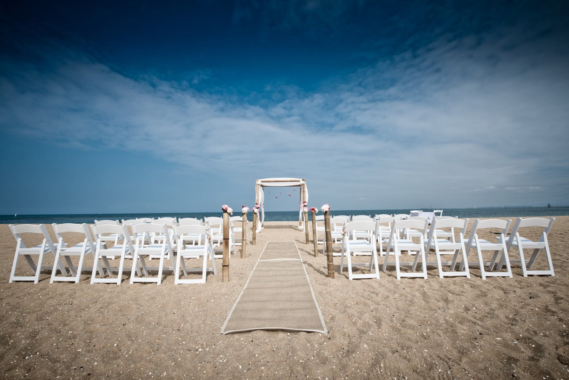 Photo Of A Wedding Ceremony Set Up At Brighton Beach