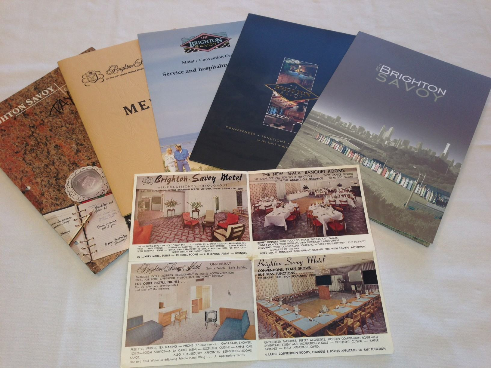 Photo of historical Brighton Savoy conference brochures