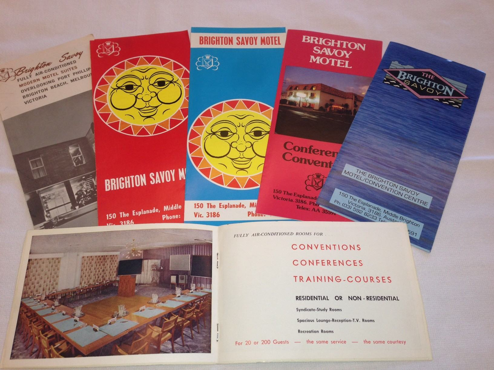 Photo of historical Brighton Savoy motel and hotel brochures