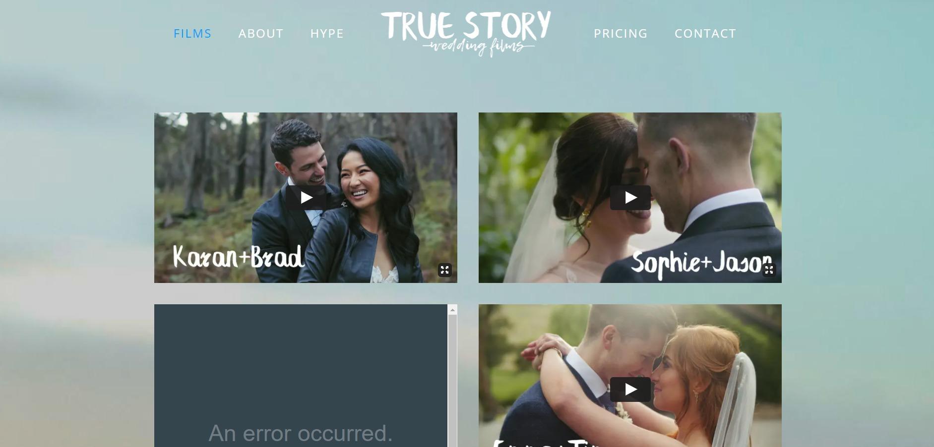 True Story Wedding Films