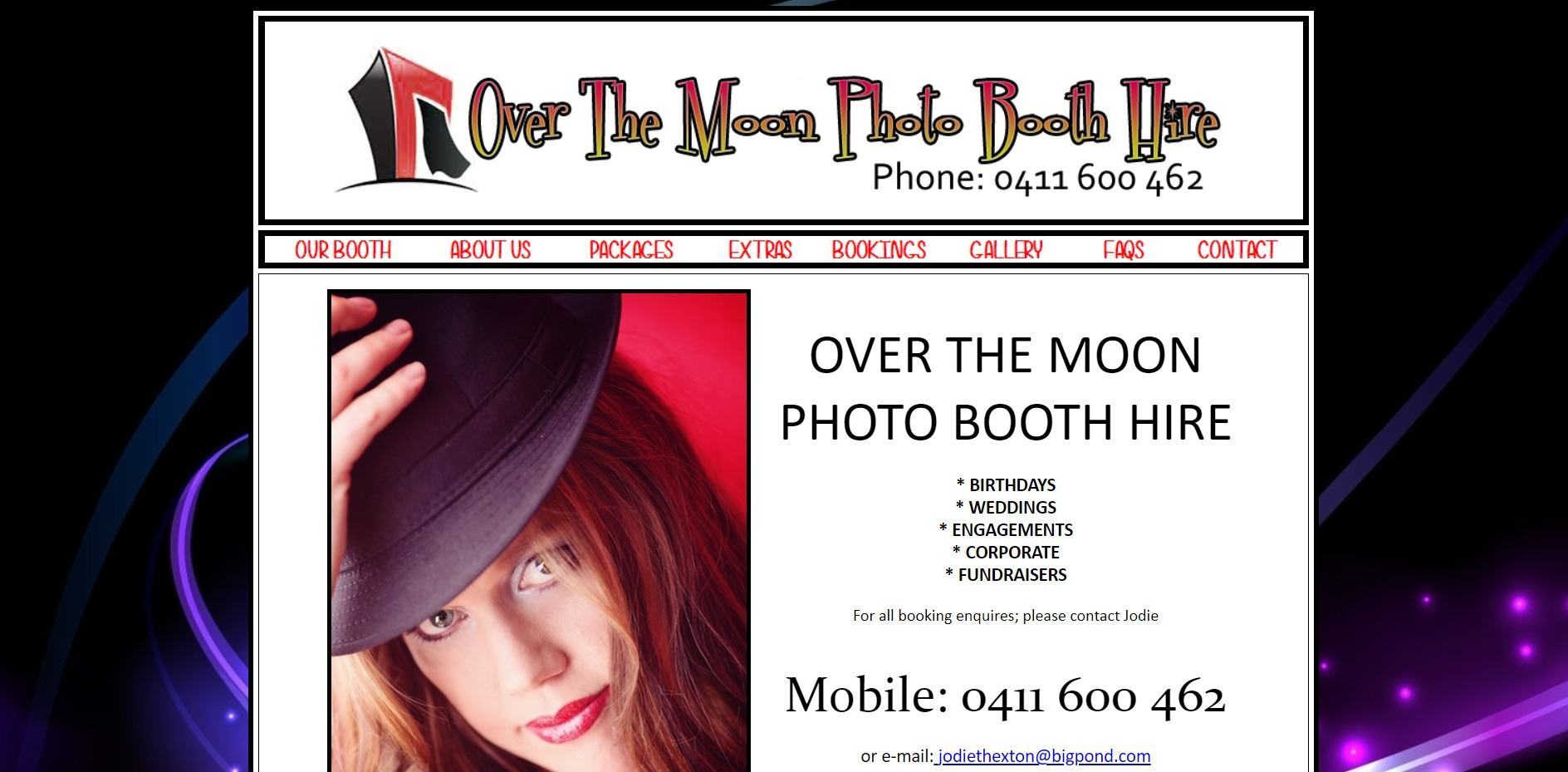 Over The Moon Photo Booth Hire