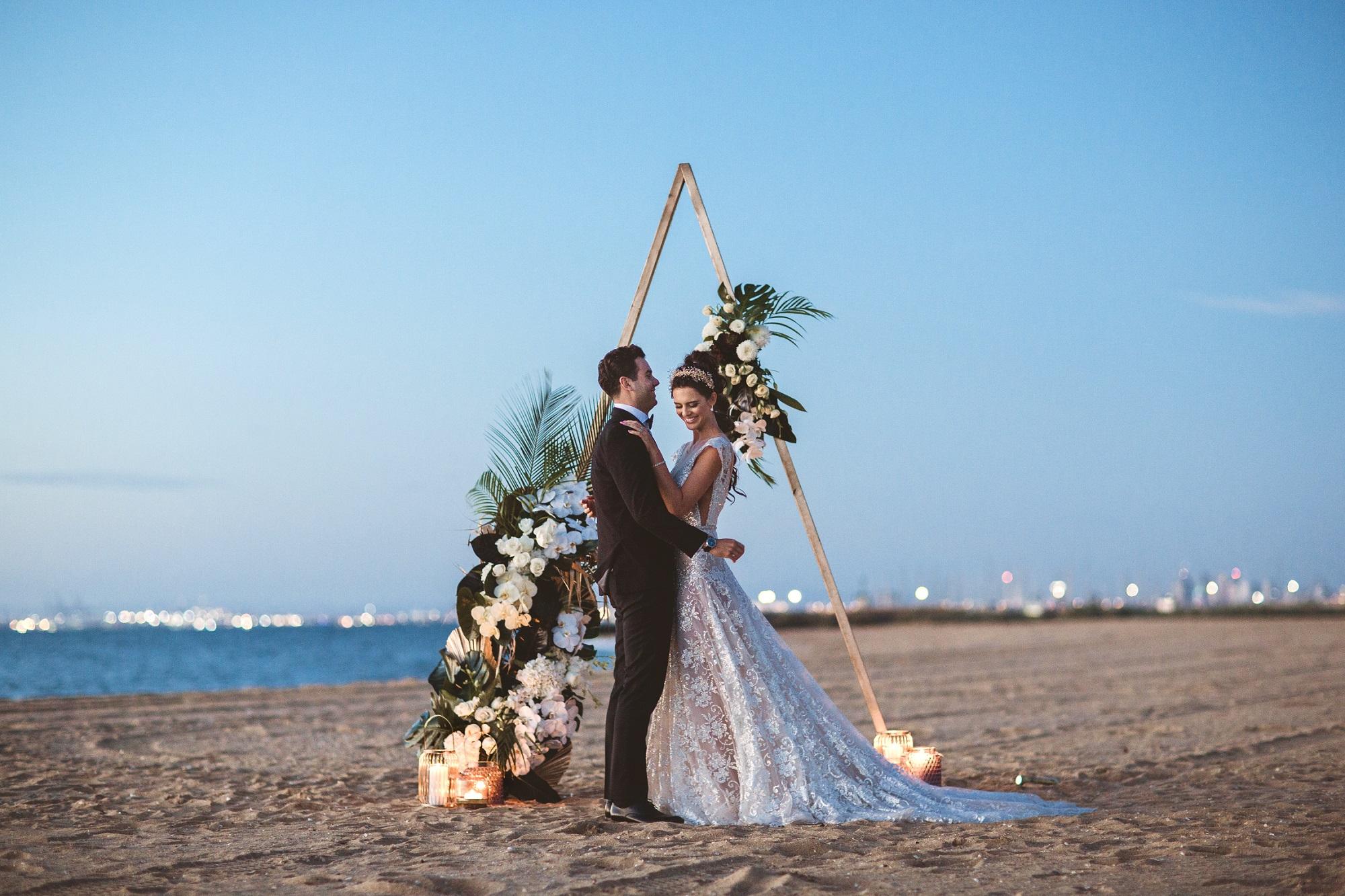 Beach wedding venue ceremony