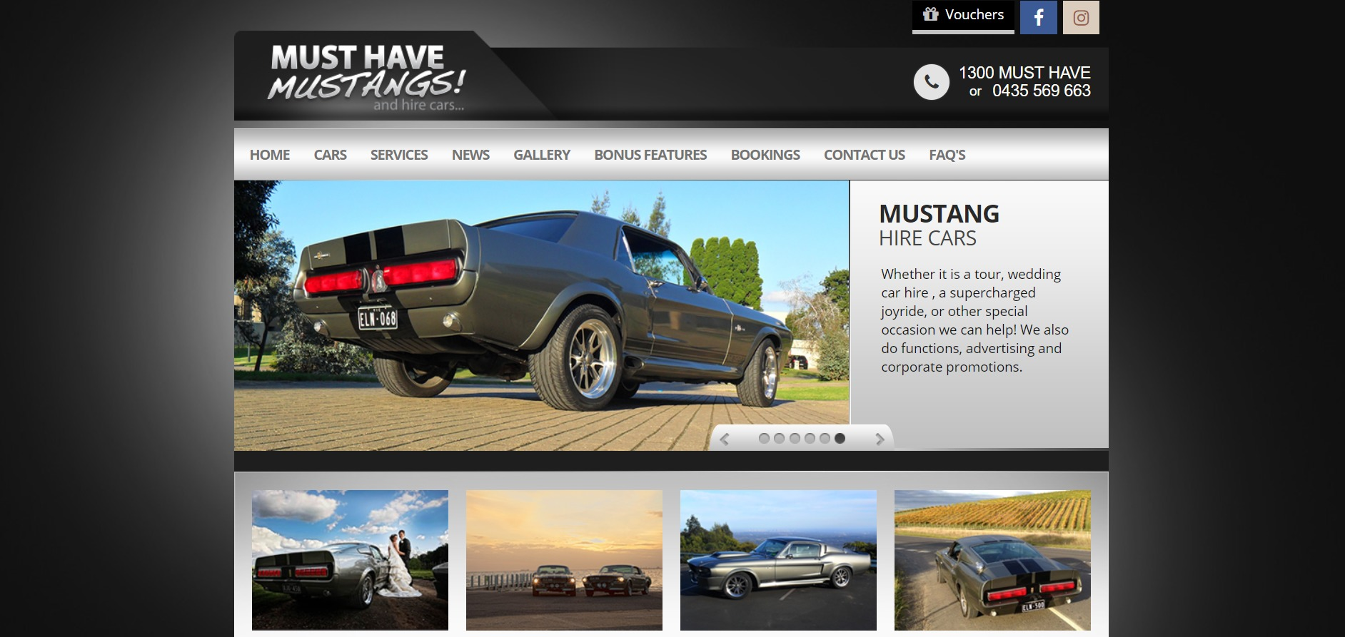 Musthave Mustang Wedding Car Hire