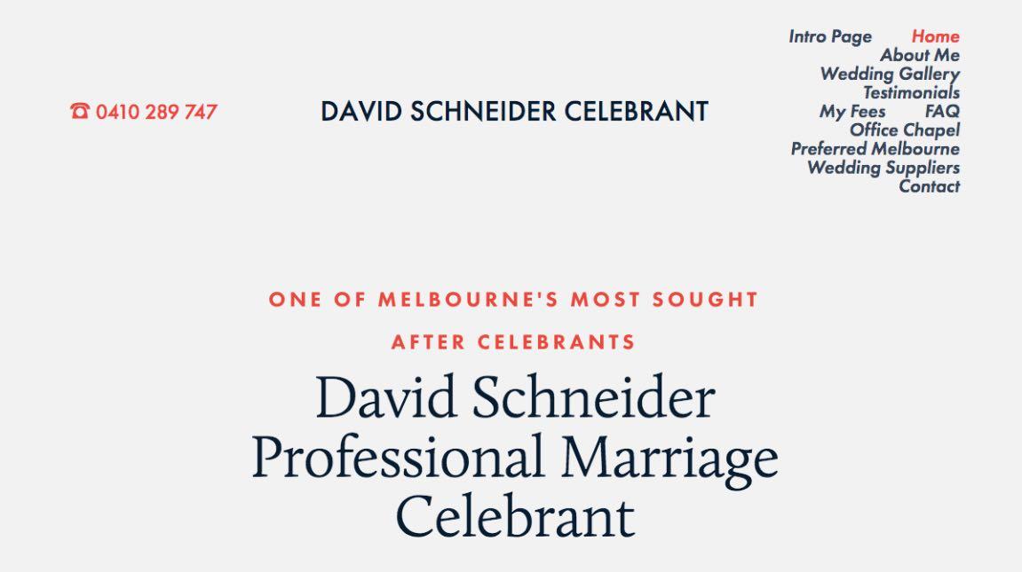 David Schneider Wedding Celebrant Melbourne