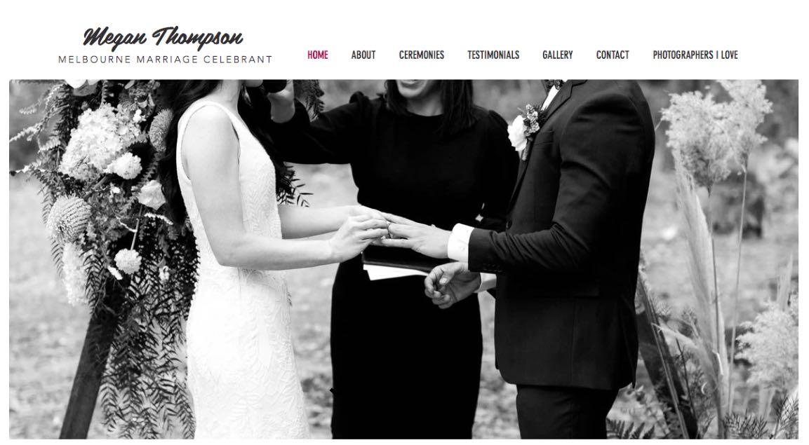 Megan Thompson Wedding Celebrant Melbourne
