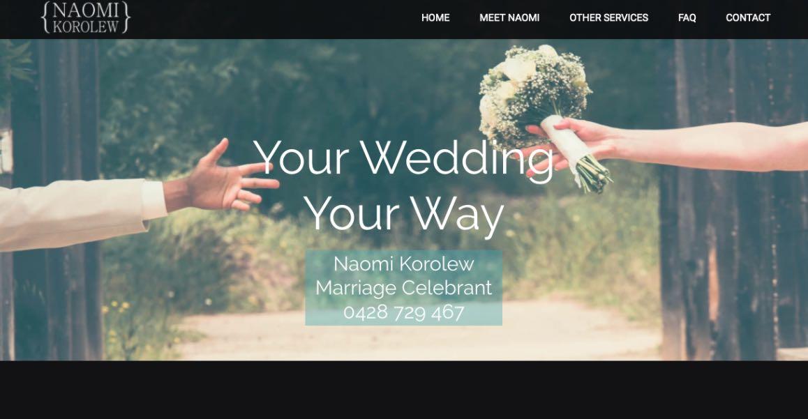 Naomie Karolew Wedding Celebrant Melbourne