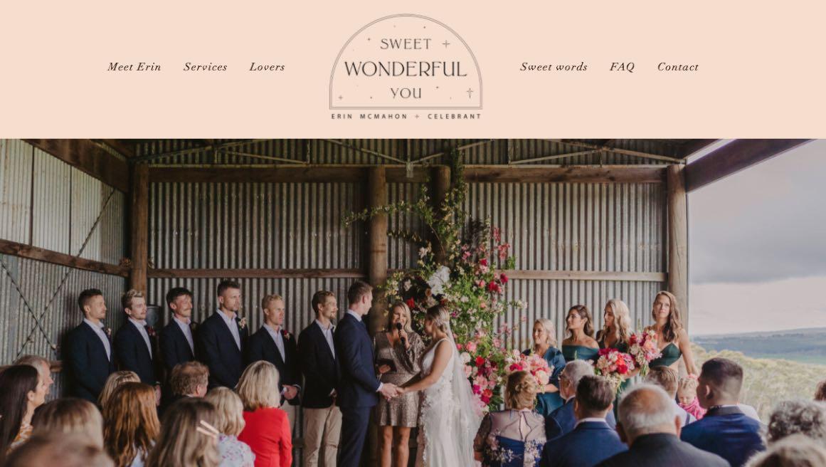 Sweet Wonderful You Wedding Celebrant Melbourne