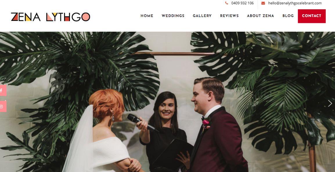 Zena Lythgo Wedding Celebrant Melbourne