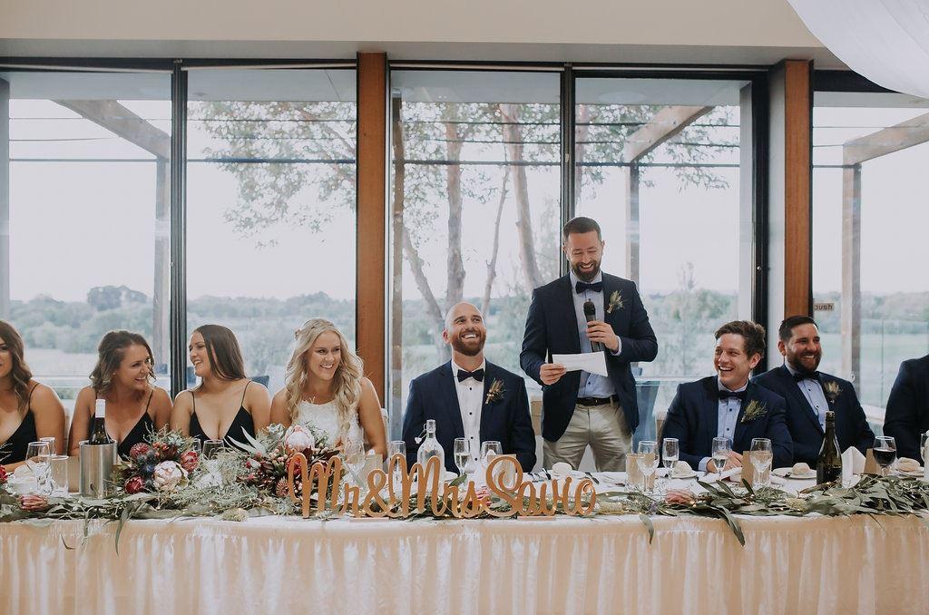 Speech at a wedding