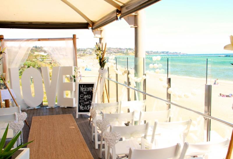 beach wedding view