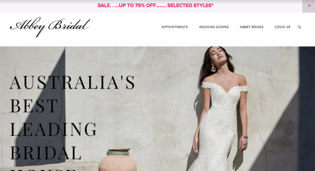 Abbey Bridal Preloved Wedding Dress Shop Melbourne