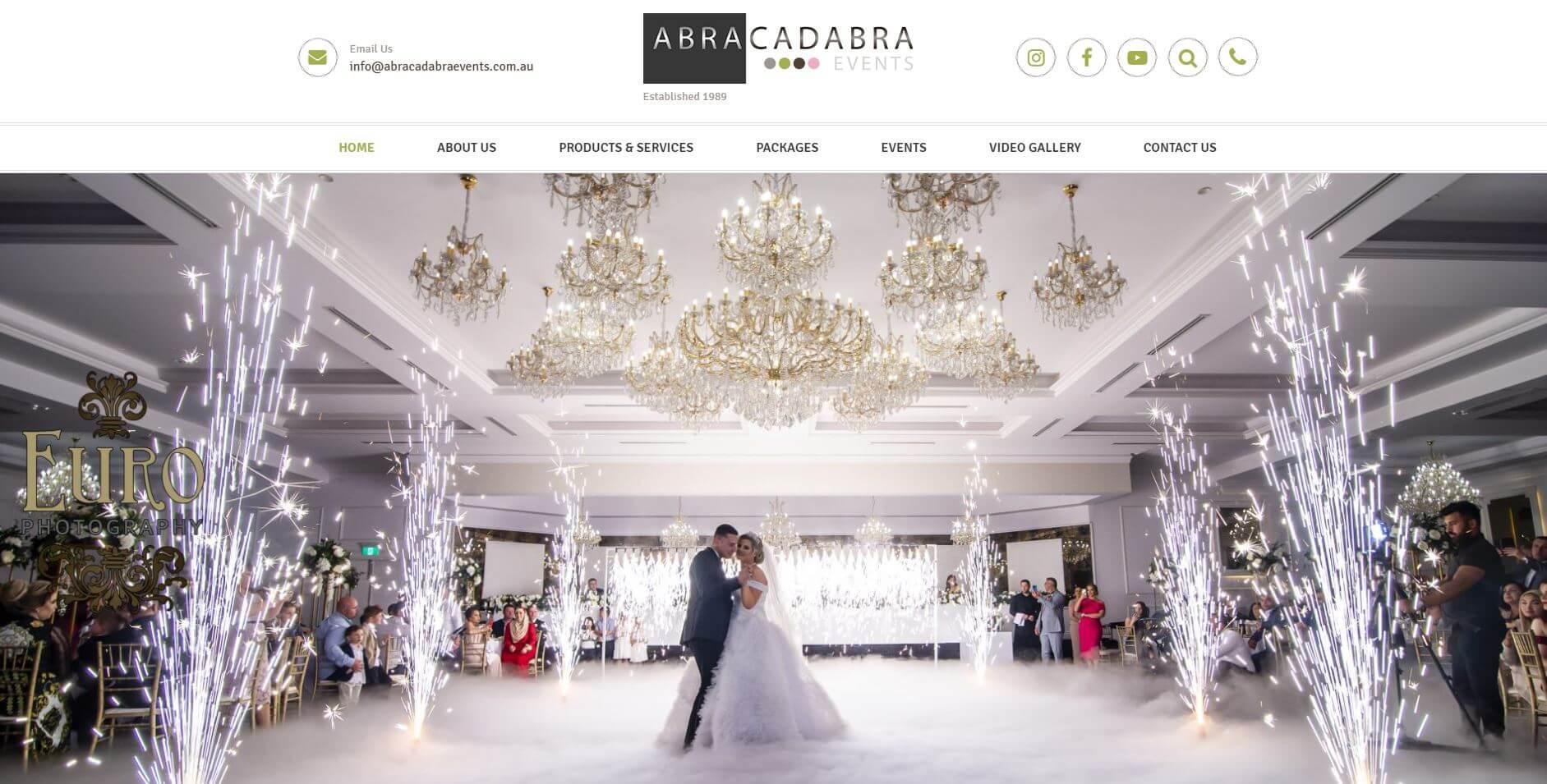 Abracadabra Events Wedding Hire Melbourne