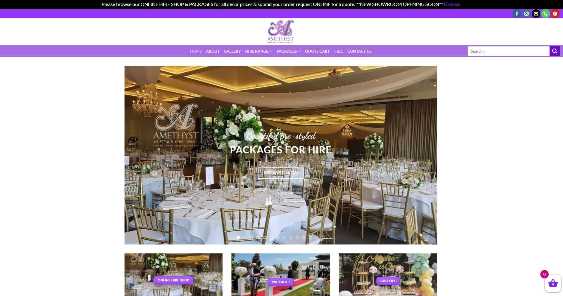 Amethyst Wedding & Event Decor Wedding Hire Melbourne