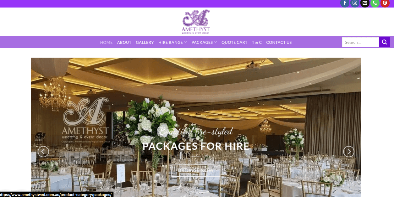 Amethyst Wedding And Event Decoration