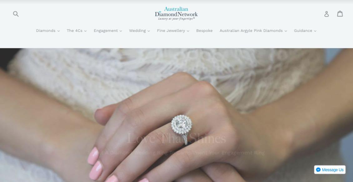 Australian Diamond Network Wedding Jewellery Shop Melbourne
