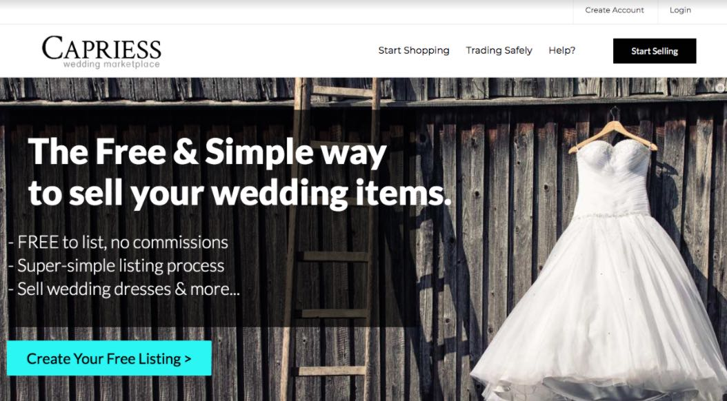 Capriess Preloved Wedding Dress Shop Melbourne