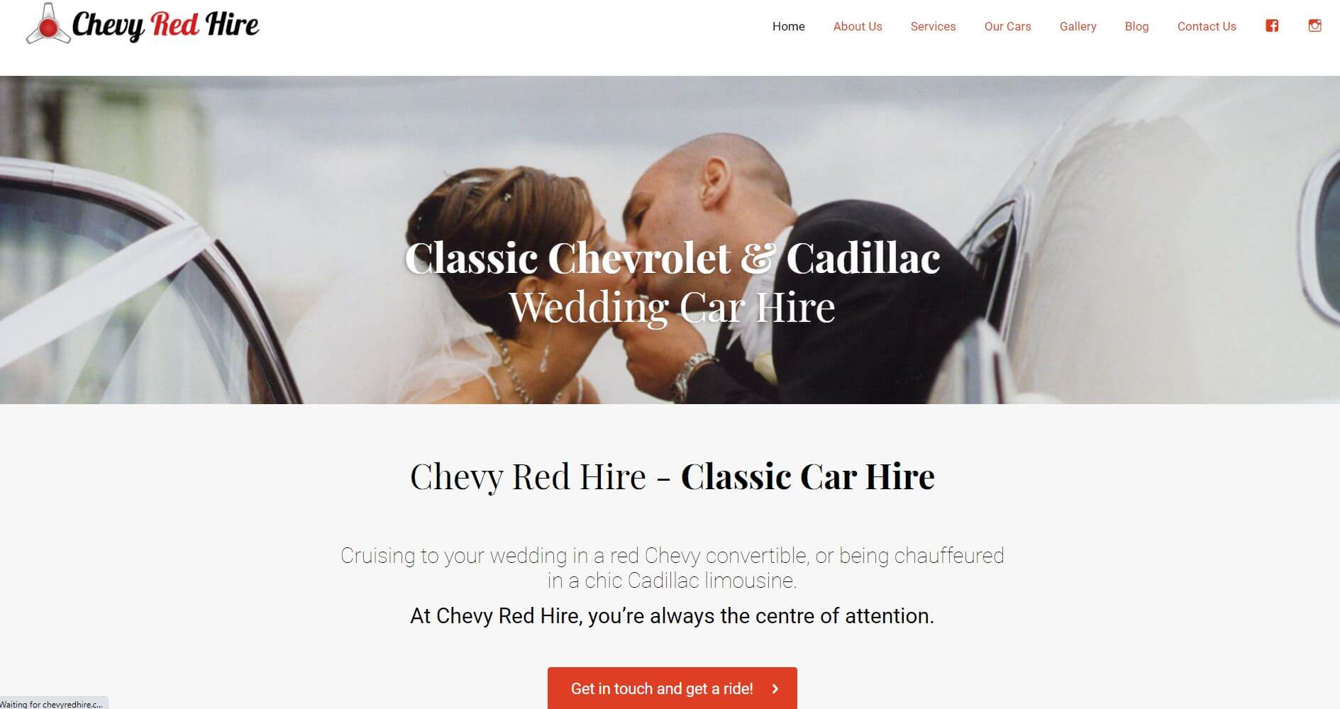 Chevy Red Hire Wedding Melbourne