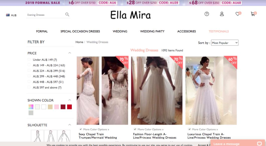Ella Mira Preloved Wedding Dress Shop Melbourne