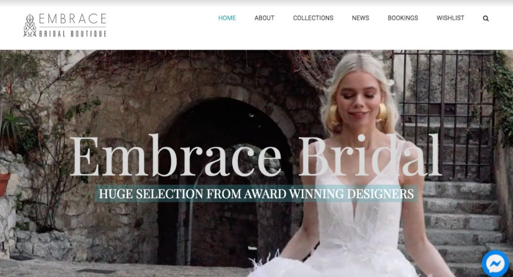 Embrace Bridal Boutique Wedding Dress Designer Shop Melbourne