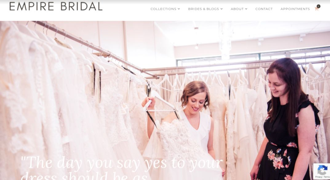 Empire Bridal Wedding Dress Designer Shop Melbourne
