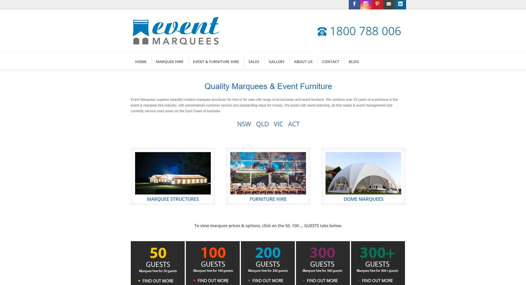 Event Marquees Wedding Hire Melbourne