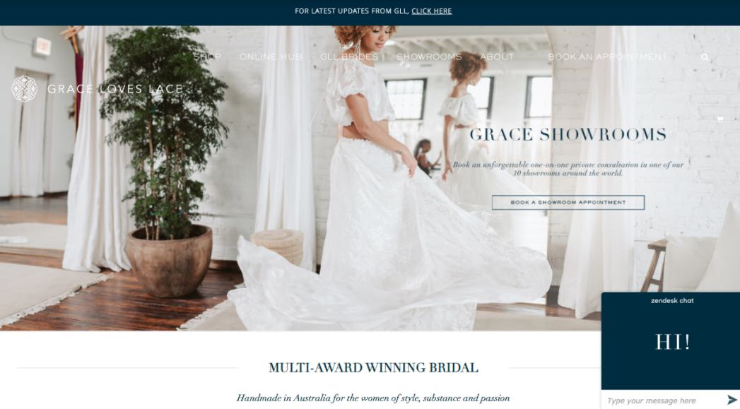 Grace Love Lace Wedding Dress Designer Shop Melbourne