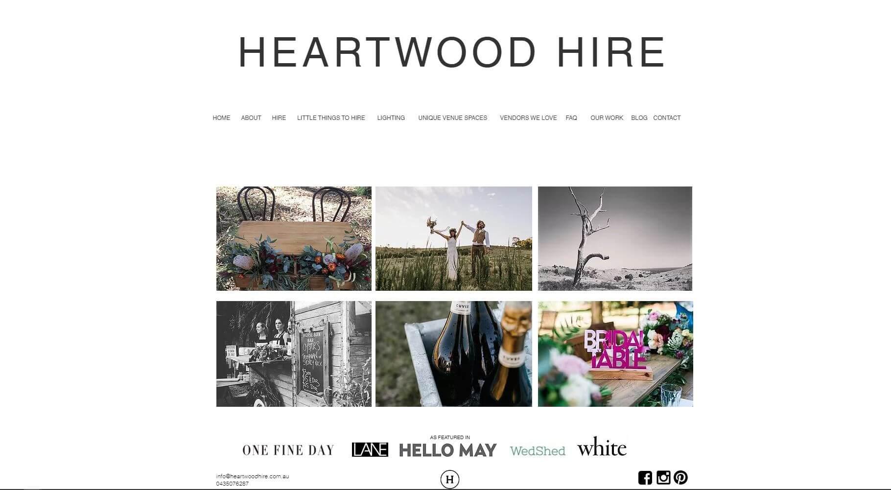 Heartwood Wedding Hire Melbourne