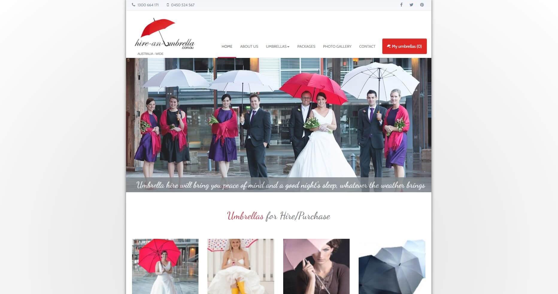 Hire An Umbrella Wedding Hire Melbourne