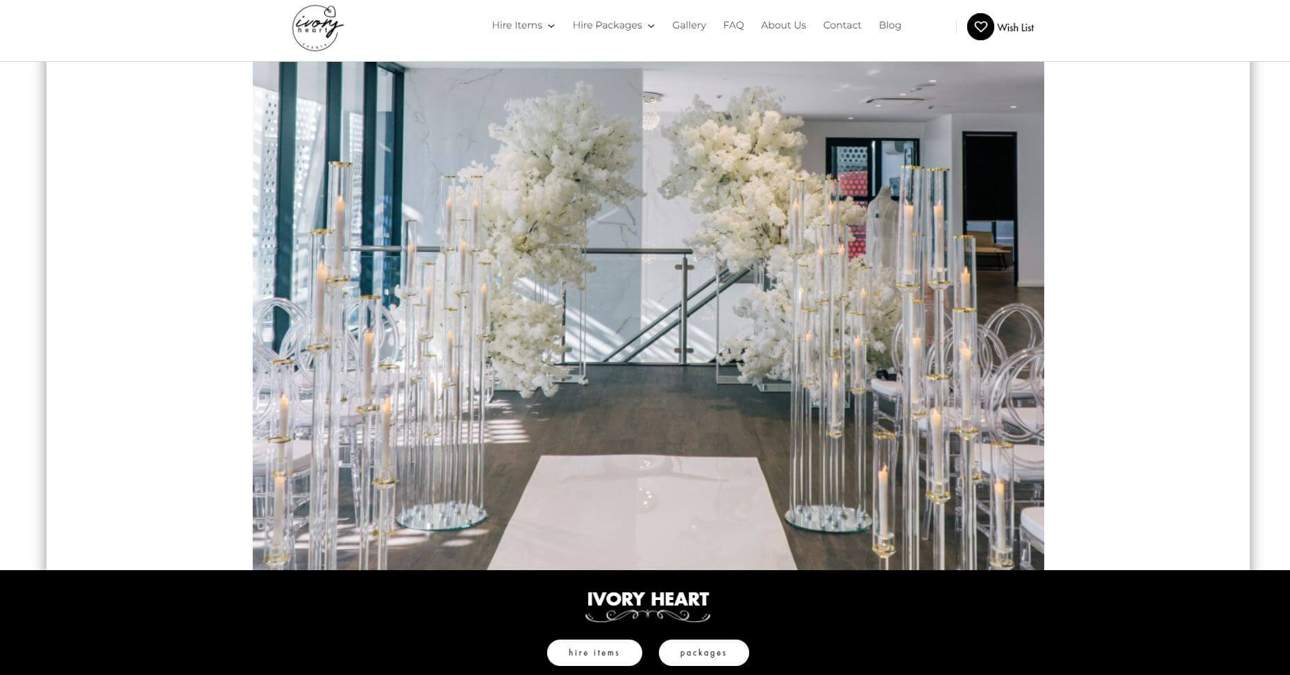 Ivory Heart Events Wedding Hire Melbourne