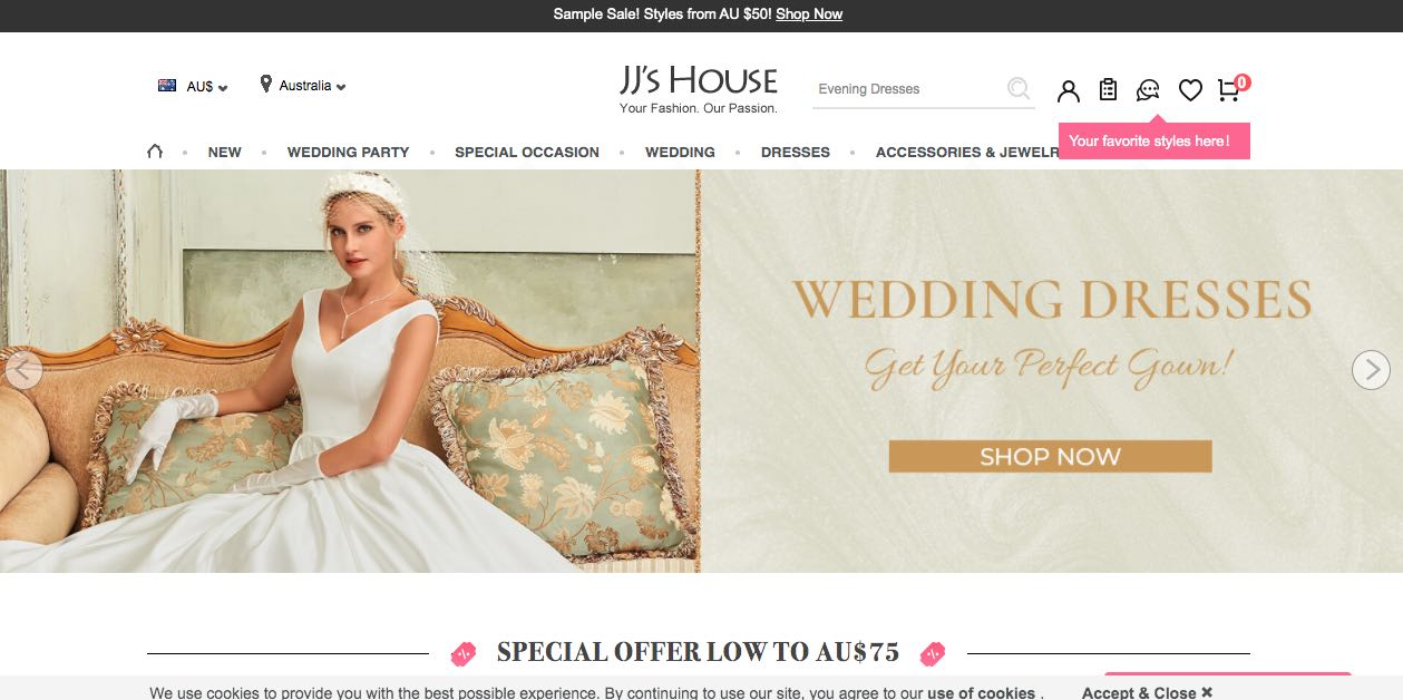 Jj's House Wedding Shoe Shop Melbourne