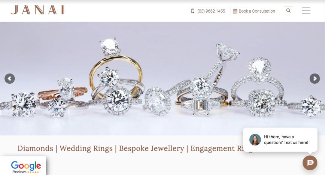 Janai Wedding Jewellery Shop Melbourne