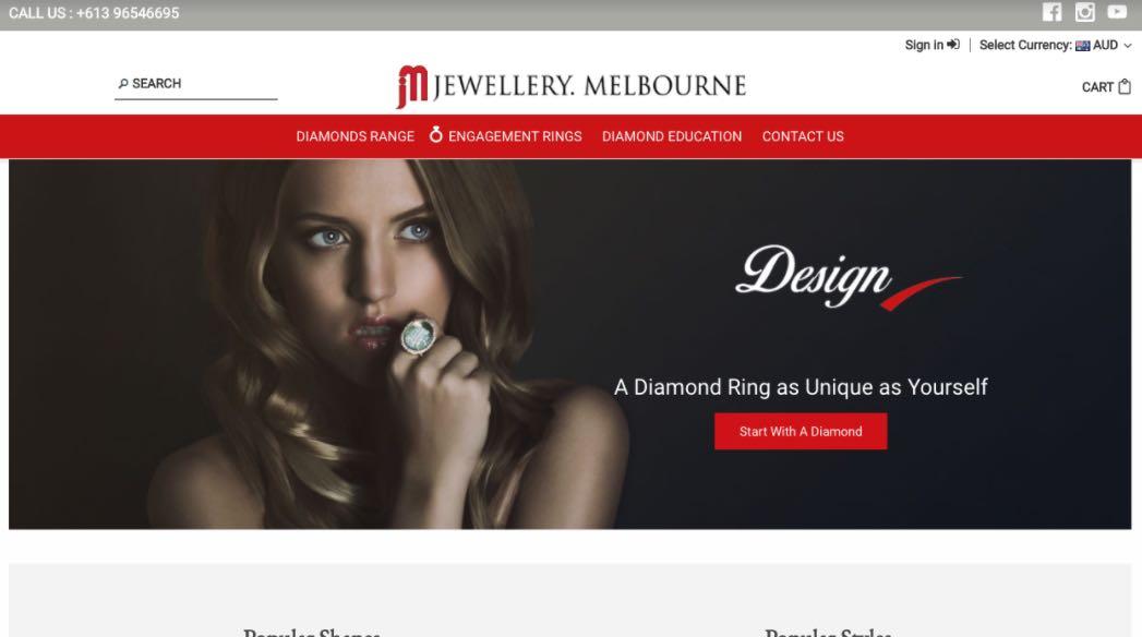Jewellery Melbourne Wedding Shop