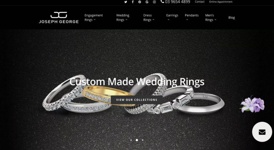 Joseph George Wedding Jewellery Shop Melbourne