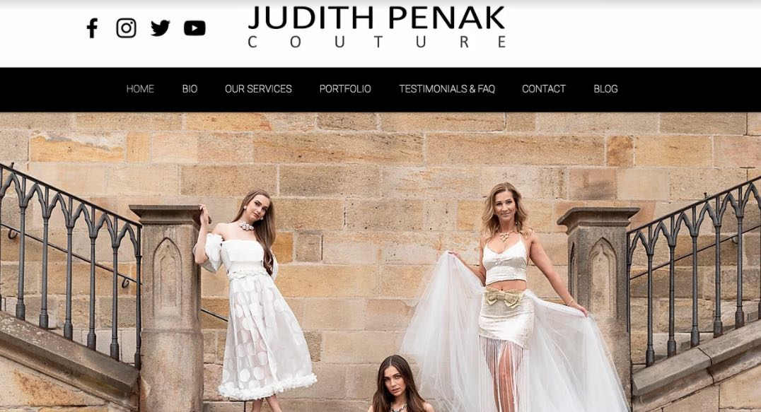 Judith Penak Couture Wedding Dress Designer Shop Melbourne