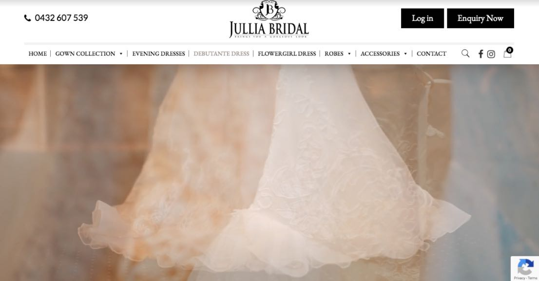 Jullia Bridal Wedding Dress Designer Shop Melbourne