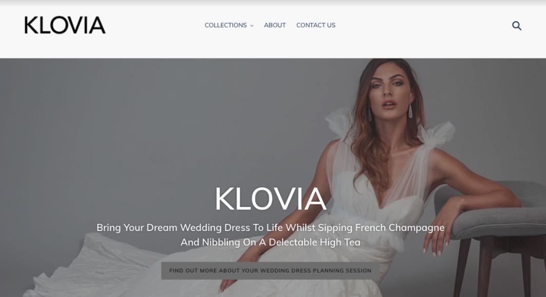 Klovia Wedding Dress Designer Shop Melbourne