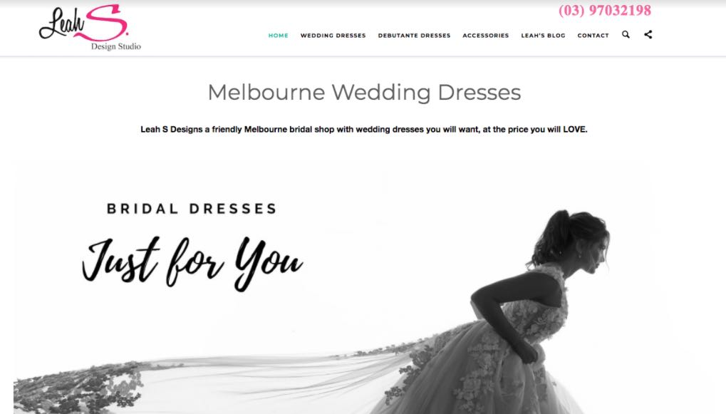 Leah S. Design Wedding Dress Shop Melbourne