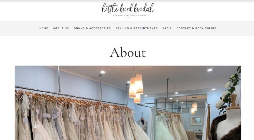 Little Bird Bridal Preloved Wedding Dress Shop Melbourne