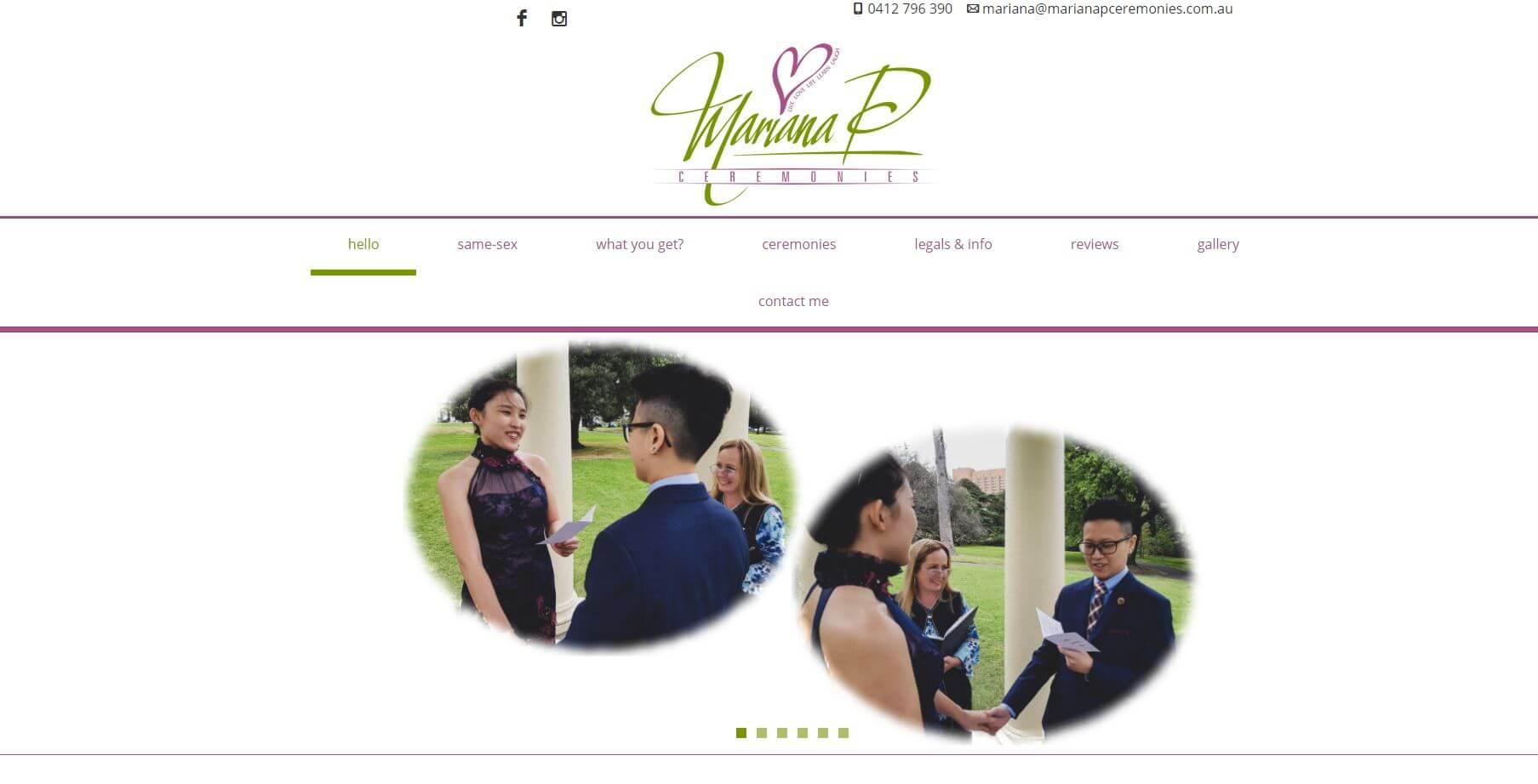 Mariana P. Ceremonies Wedding Hire Melbourne