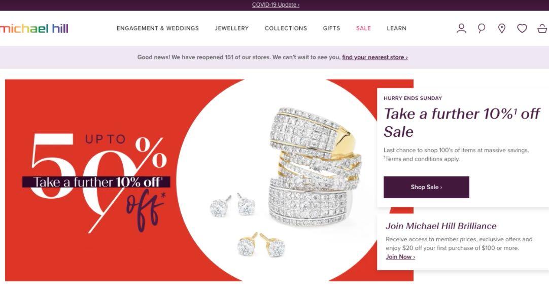 Michael Hill Wedding Jewellery Shop Melbourne