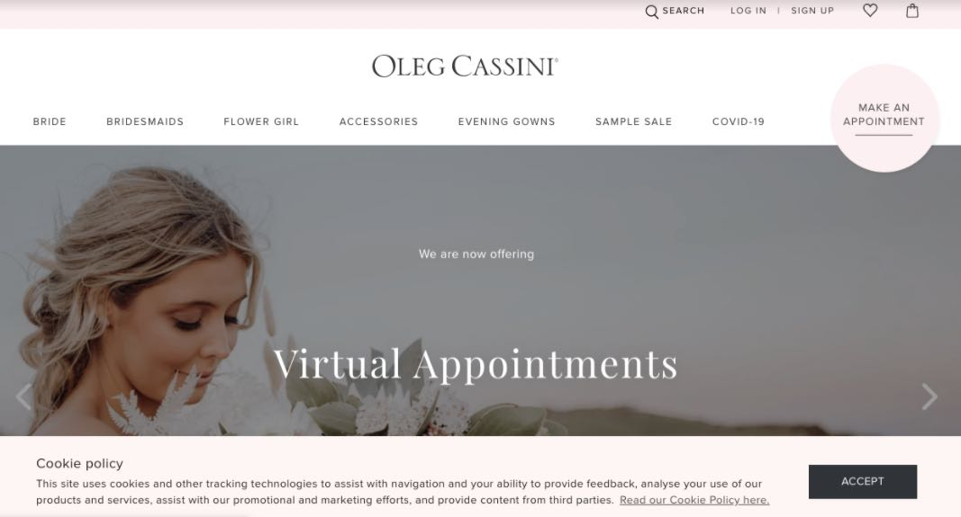 Oleg Cassini Wedding Dress Designer Shop Melbourne