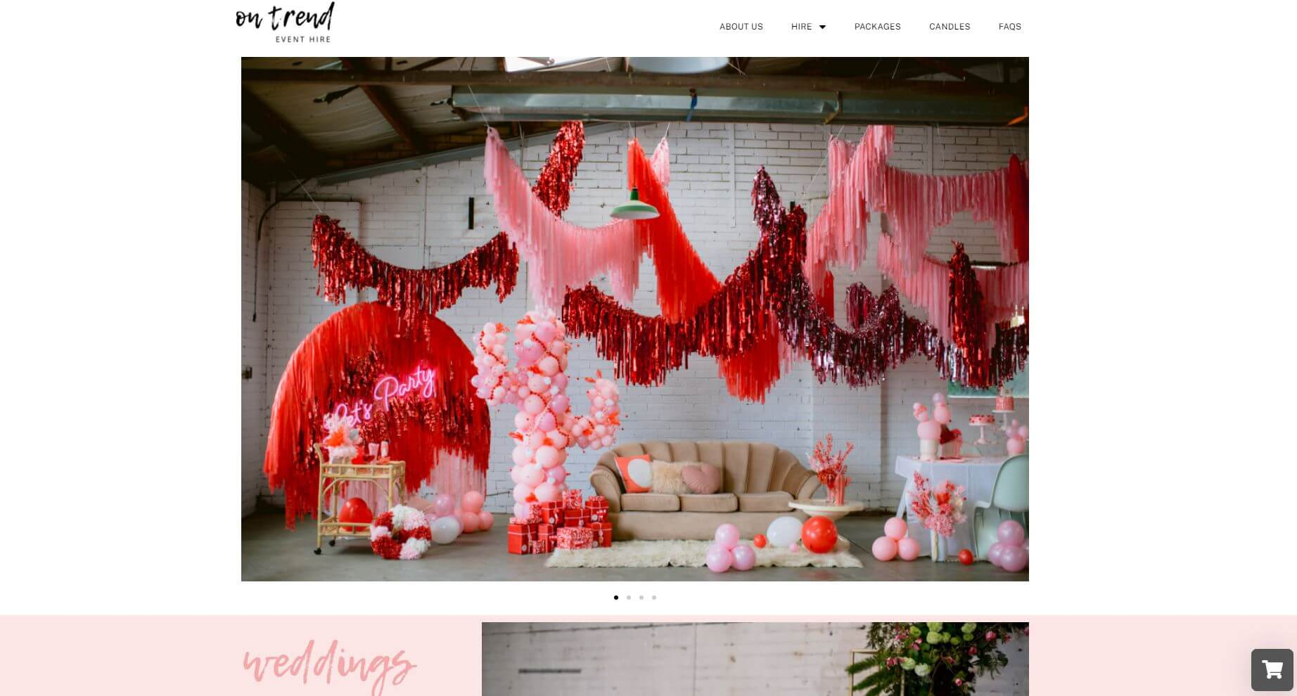 On Trend Event Hire Wedding Melbourne