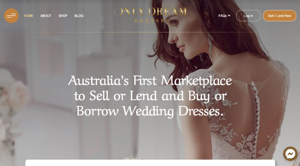 Only Dream Preloved Wedding Dress Shop Melbourne