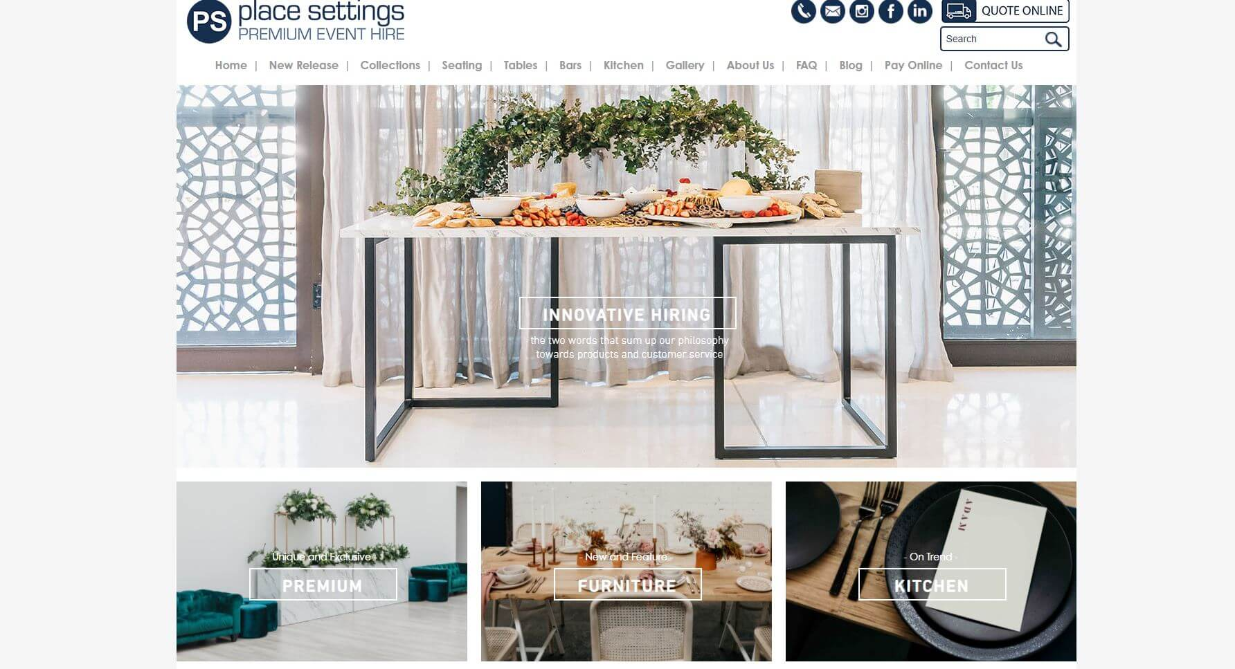 Place Settings Wedding Hire Melbourne
