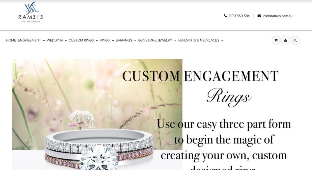 Ramzi's Wedding Jewellery Shop Melbourne