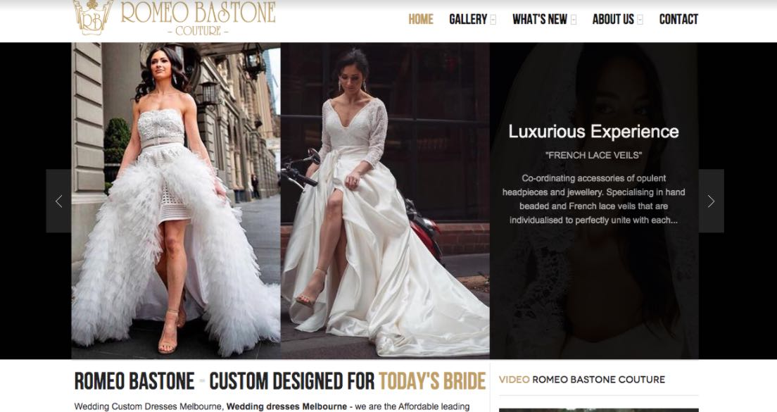 Romeo Bastone Wedding Dress Designer Shop Melbourne