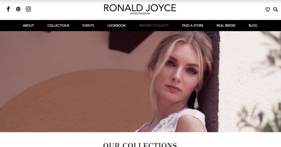Ronald Joyce Wedding Dress Designer Shop Melbourne