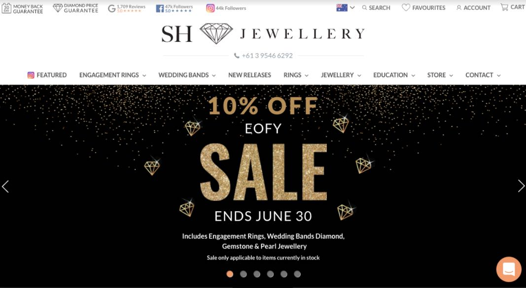 Sh Jewellery Wedding Shop Melbourne